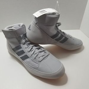 Adidas HVC wrestling shoes gray size 7 1/2
